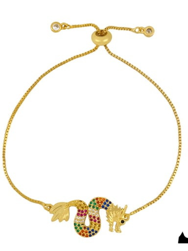 brc27 A Alloy Cubic Zirconia Zodiac Vintage Link Bracelet