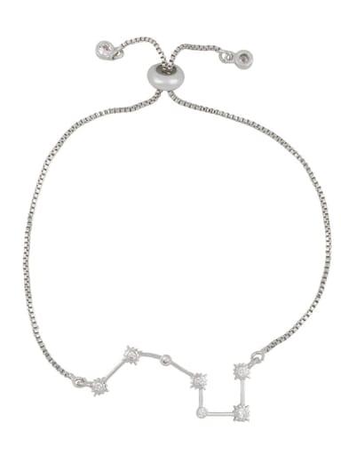 steel Alloy Cubic Zirconia Star Minimalist Link Bracelet