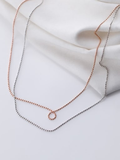 925 Sterling Silver Round Minimalist Bead Chain