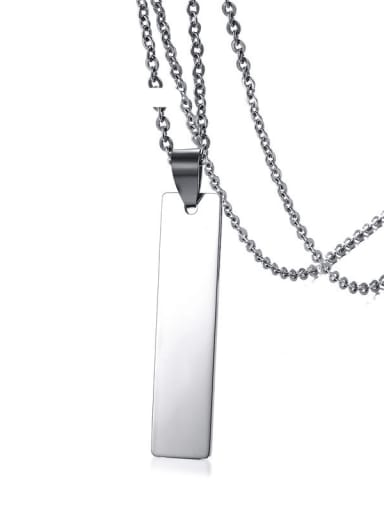 Stainless steel Smooth Geometric Minimalist Necklace