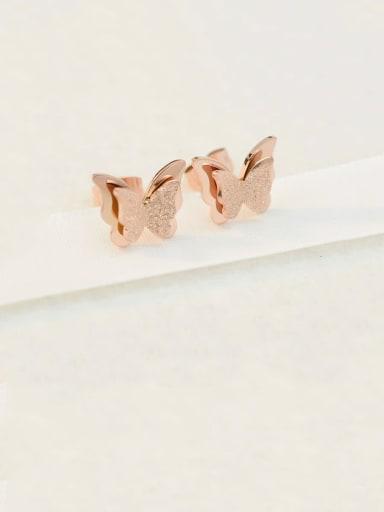Titanium Butterfly Cute Stud Earring
