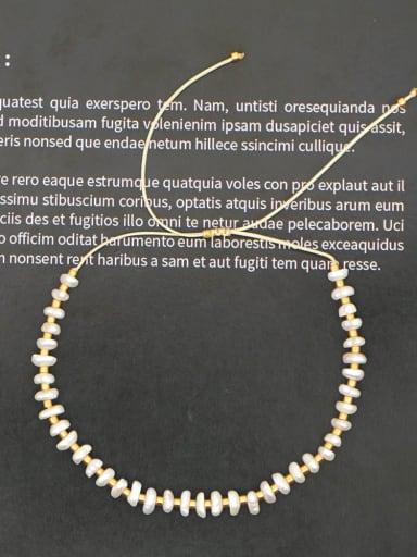 ZZ B200038B Stainless steel Freshwater Pearl Multi Color Geometric Minimalist Woven Bracelet