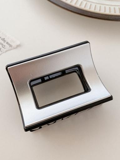 Black Silver 6cm Alloy Resin Minimalist Geometric Multi Color Jaw Hair Claw