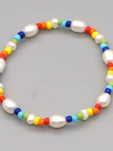 ZZ B200168A Stainless steel Multi Color Polymer Clay Letter Bohemia Handmade Weave Bracelet