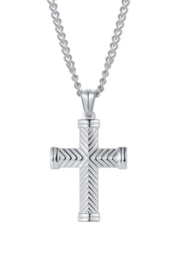 2003 [steel single pendant] Titanium Steel Cross Hip Hop Regligious Necklace