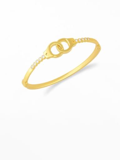 C Brass Cubic Zirconia Smiley Vintage Bracelet
