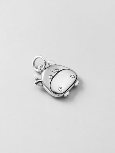 925 Sterling Silver Minimalist Pig Pendant