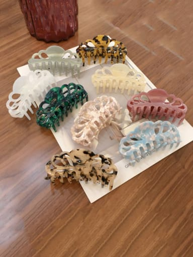 Alloy Cellulose Acetate Bohemia  Jaw Hair Claw