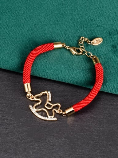 Titanium Steel Horse Minimalist Handmade Weave Bracelet