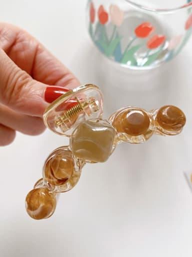 Coffee 7.2cm Alloy Resin Minimalist Geometric  Jaw Hair Claw