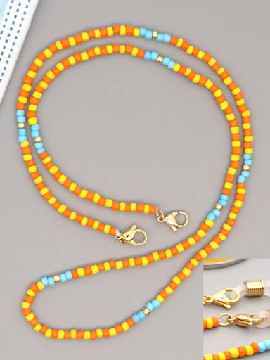 GZ N200005B Stainless steel Multi Color TOHAO  Bead  Bohemia Hand-woven Necklace