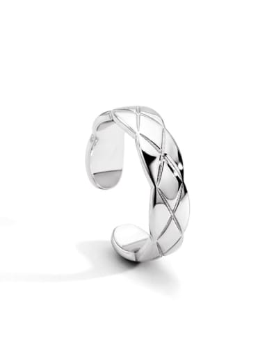 platinum Brass Geometric Vintage Band Ring
