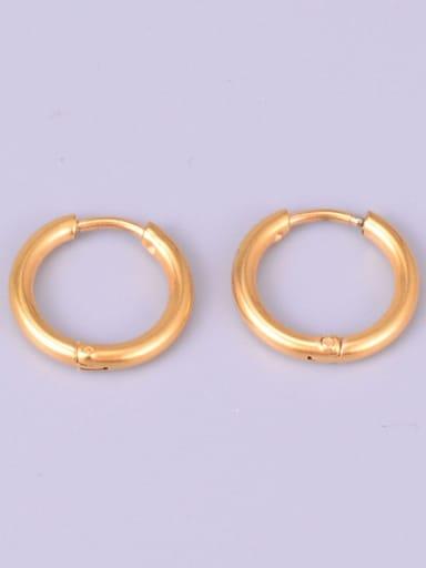 Titanium smooth Round Minimalist Hoop Earring