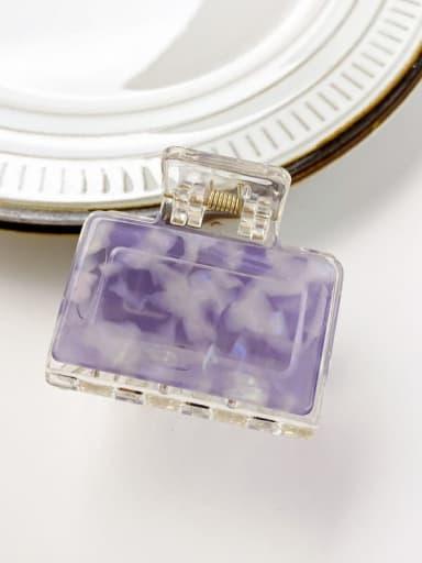 Fresh purple 5cm Cellulose Acetate Minimalist Square Alloy Multi Color Jaw Hair Claw