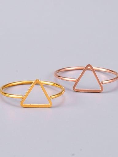 Titanium Steel Hollow Triangle Minimalist Midi Ring