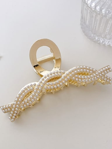 Pearl 11cm Alloy Imitation Pearl  Minimalist GeometricJaw Hair Claw