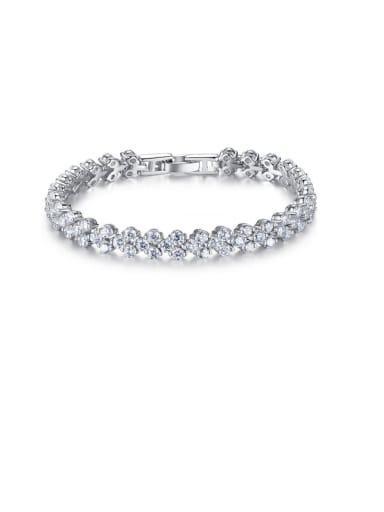 925 Sterling Silver with eight heart eight arrow  Cubic Zircon Bracelet