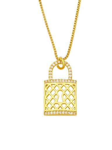 Brass Cubic Zirconia Heart Hip Hop Necklace