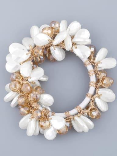 gold Alloy Imitation Pearl Bohemia Geometric Hair Rope