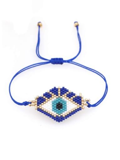 MI B210089A Multi Color MiyukiDB Evil Eye Bohemia Handmade Weave Bracelet