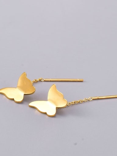Titanium Steel Butterfly Minimalist Drop Earring