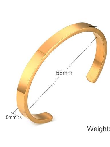 6mm diameter: 56cm Titanium Geometric Minimalist Bracelet
