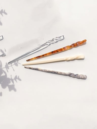 Cellulose Acetate Minimalist Round ball Hair Stick