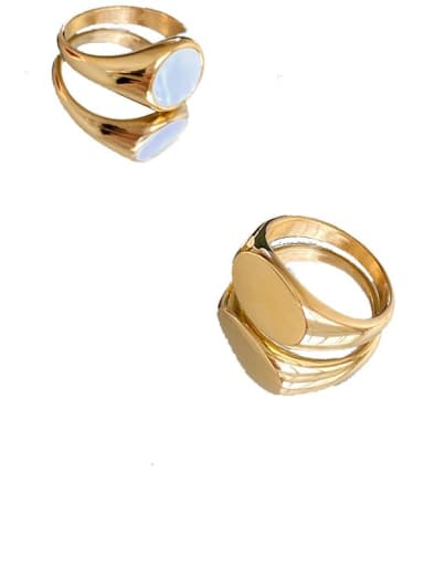 Titanium Steel Geometric Vintage Band Ring