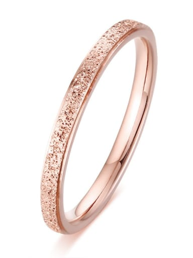 Rose Gold   wide 2mm Stainless steel Geometric Minimalist Band Ring