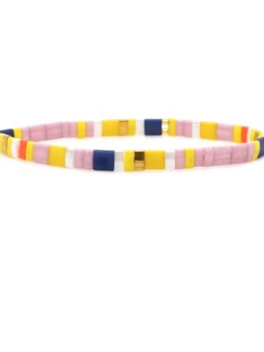 Stainless steel TILA Multi Color Geometric Bohemia Handmade Weave Bracelet