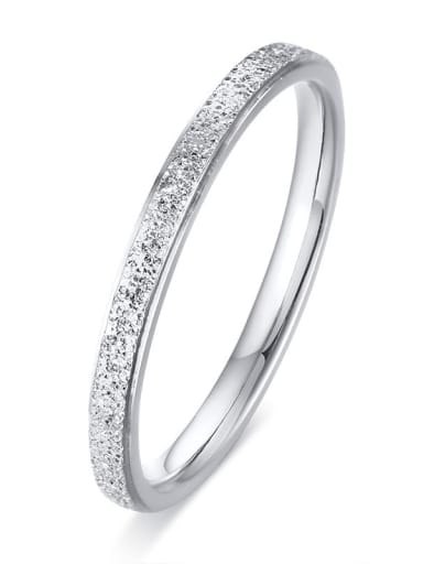 Stainless steel Geometric Minimalist Band Ring