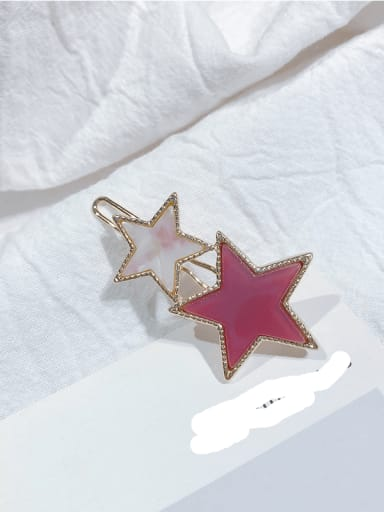 claret Alloy Cellulose Acetate Minimalist Star  Hair Pin