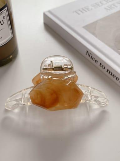 Coffee 7.5cm Alloy Resin Minimalist Geometric  Jaw Hair Claw