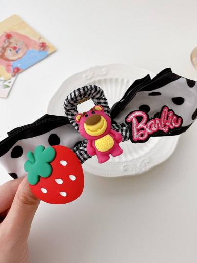Plaid ribbon 11.5cm Alloy Resi Yarn Cute Icon  Jaw Hair Claw