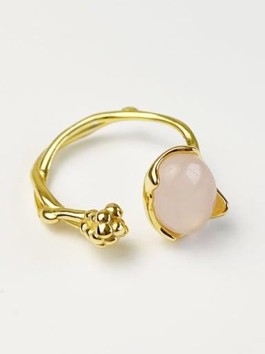 925 Sterling Silver Opal Irregular Minimalist Band Ring
