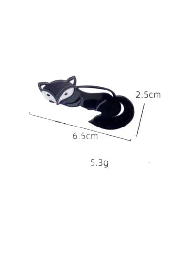 Black Fox Cellulose Acetate Alloy Cute Dolphin  Hair Pin