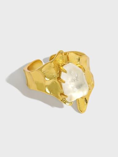 925 Sterling Silver Crystal Irregular Vintage Band Ring