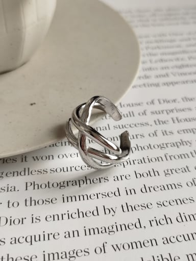 925 Sterling Silver Irregular Trend Statement Ring