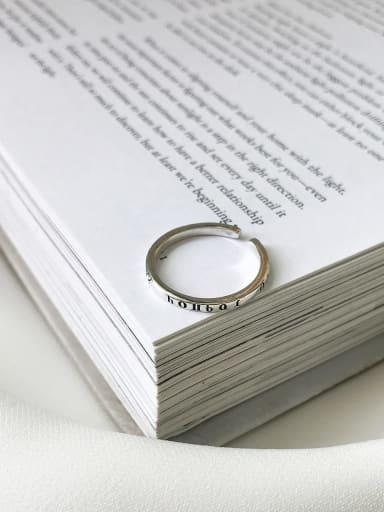 Greek letter ring J 300 925 Sterling Silver Letter Vintage Signet Ring