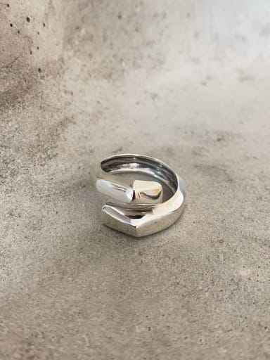 925 Sterling Silver Irregular Artisan Stackable Ring