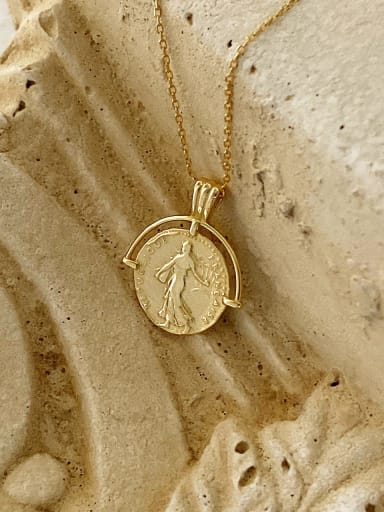 925 Sterling Silver Simple Round Coin Necklace