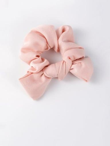 A pink Ribbon bow headband tied hair hair band