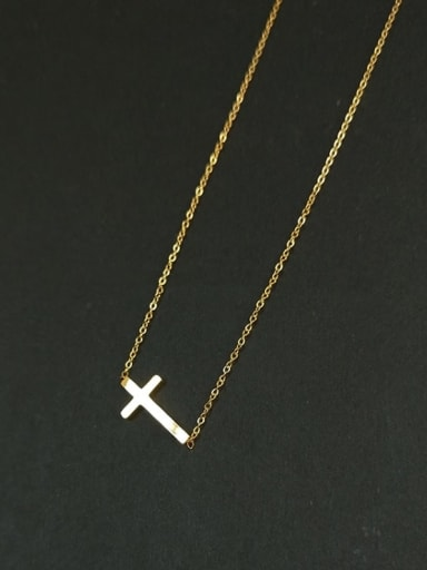 Titanium Steel Cross Minimalist Necklace