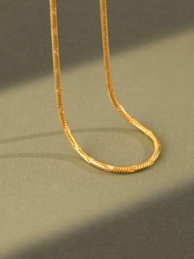 925 Sterling Silver irregular minimalist Snake Chain Necklace