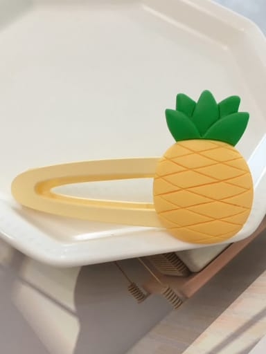 pineapple Alloy Resin Cute Friut  Hair Barrette