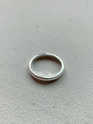 Glossy tail ring j-1200 925 Sterling Silver Smooth Free Size Ring