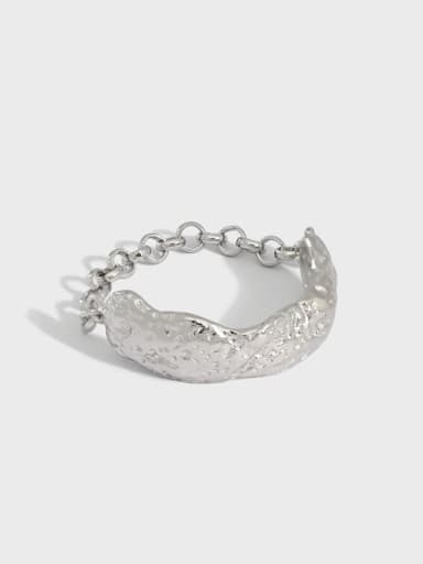 925 Sterling Silver Smooth Irregular Vintage Band Ring