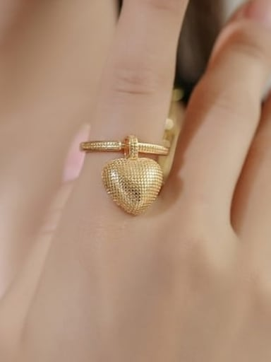 Heart shaped ring Brass Cubic Zirconia Vintage Heart  Braclete and Necklace Set