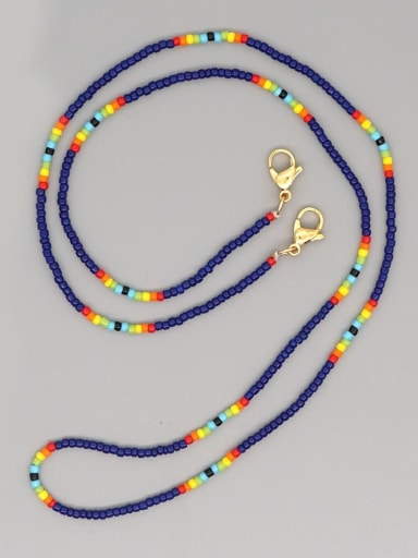 MG N200020E Stainless steel MGB Bead Multi Color Bohemia Necklace