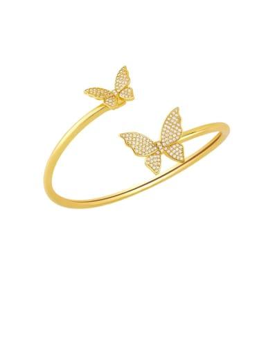 B Brass Cubic Zirconia Smiley Vintage Bracelet
